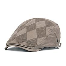 Unisex Cotton Diamond Shape Beret Hat Buckle Adjustable Paper Boy Cabbie Gentleman Cap