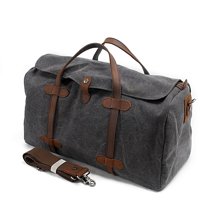 8d8b0cbde40ac9 Oversized Vintage Canvas Travel Tote Duffel Bag Men Large Capacity Shoulder Bags  Satchel Luggage Weekend Overnight