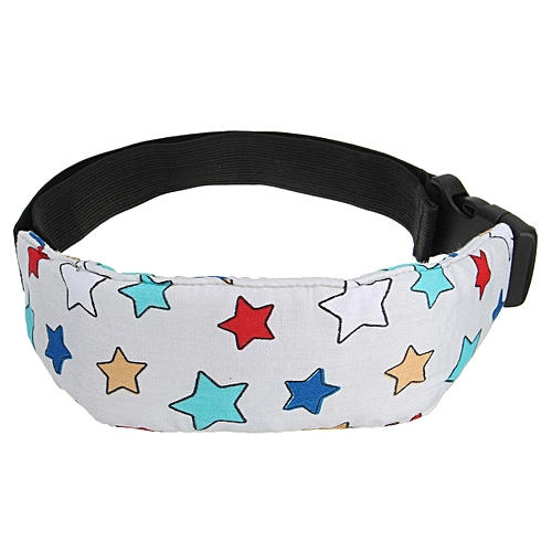 Auto Car Seat Safety Sleep Aid Head Support Belt Band Holder For Kids Child Light Grey
