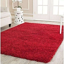 Fluffy carpet -Red colour -Fluffy and comfortable-Red