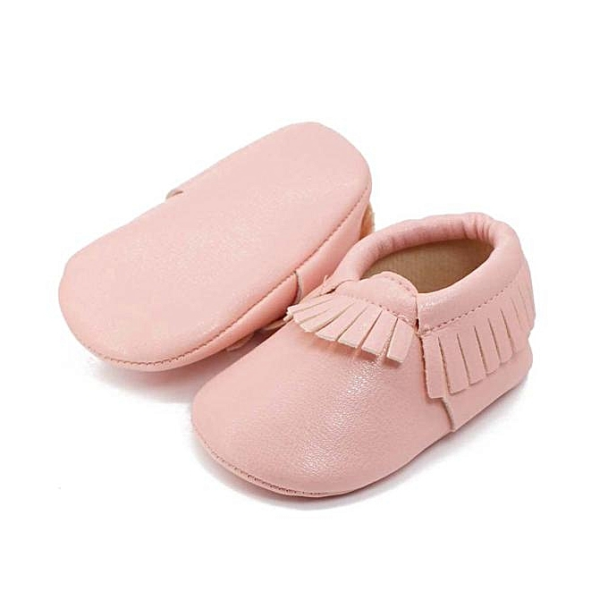 ... Baby Kids Tassel Soft Sole Leather Shoes Infant Boy Girl Toddler Shoes PK 11 Pink