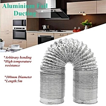 100mm Aluminum Foil Flexible Ducting 5/10M Foil Air Ventilation Duct Hydroponic (5m)