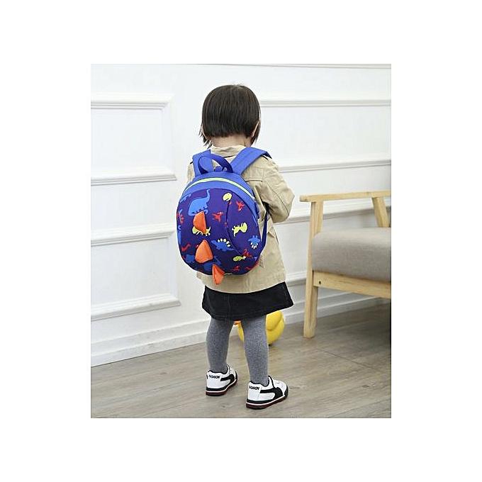 Zetenis Baby Boys Girls Kids Dinosaur Pattern Animals Backpack Toddler  School Bag -Dark Blue 36e5b22b7a9a7