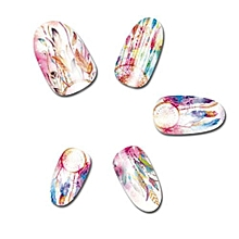 Fancyqube 12 Patterns Water Decals Nail Art Transfer Stickers Big Sheet Manicure Decoration