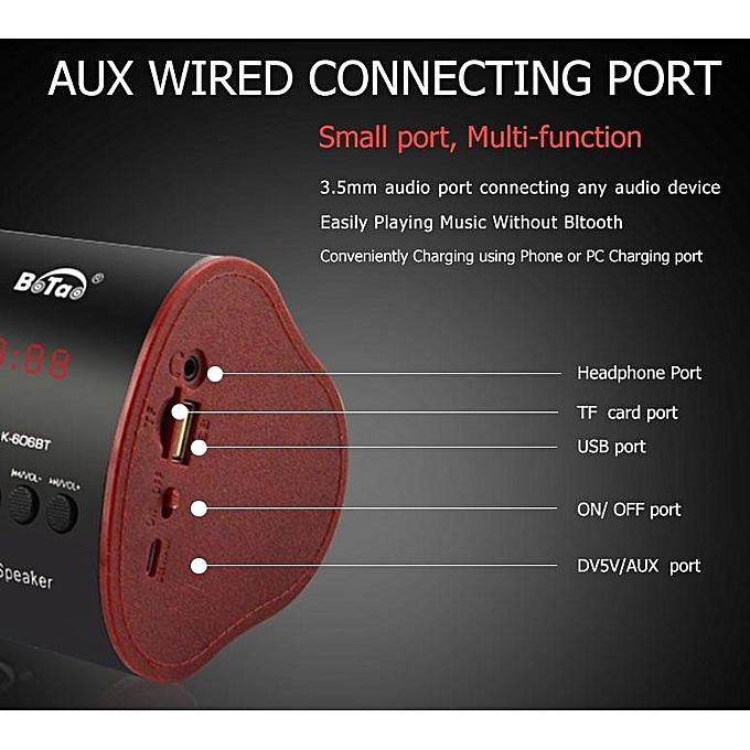 2519BT Portable Wireless Speaker, MP3 Player & Radio - WHITE