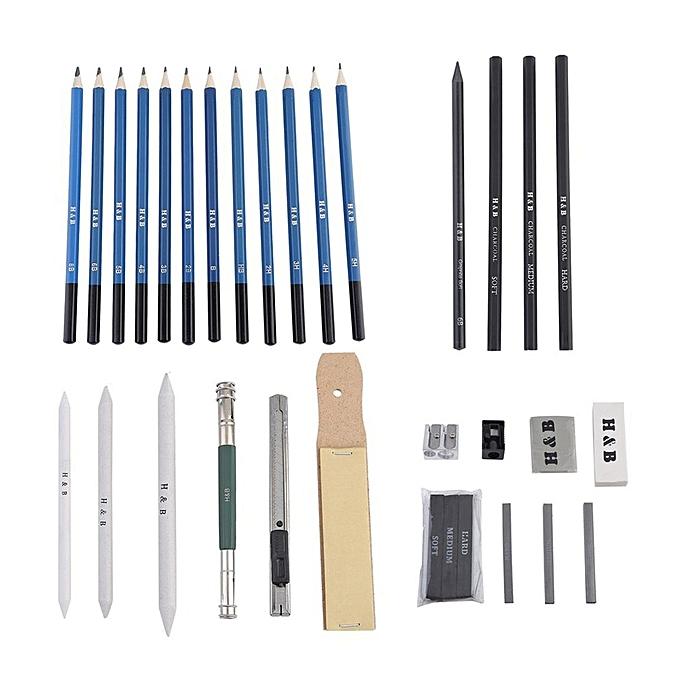 Allwin 32pcs Drawing Sketch Charcoal Pencil Eraser Art ...