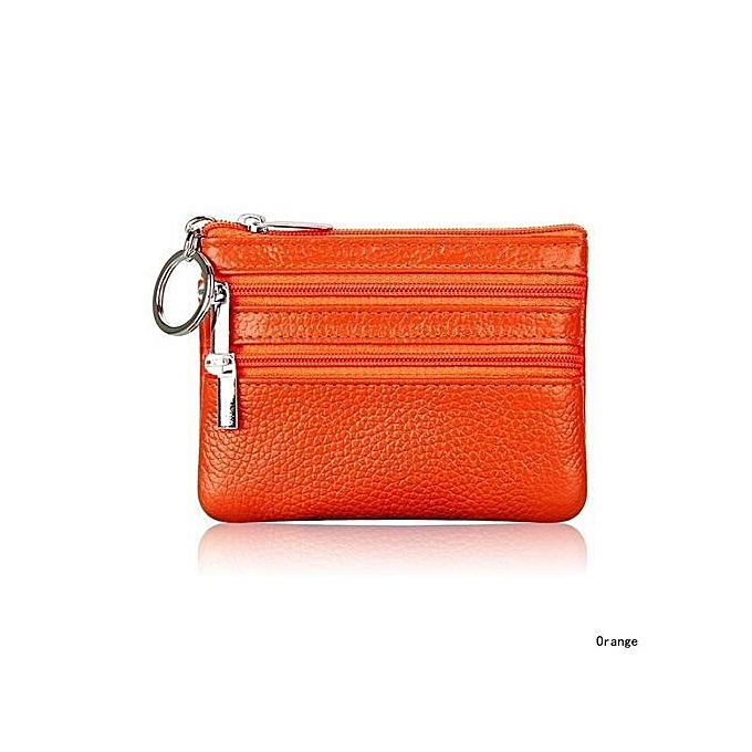 Women s Soft Leather Wallet Card Coin Key Holder Zipper Purse Pouch Change  Bag 77179a3a70