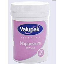 Magnesium - 187.5mg 30 Tablets