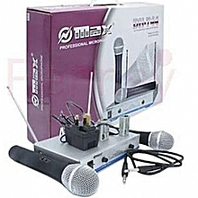 Max Dual Channel UHF Wireless Microphone System - DH-744