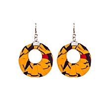 Yellow Circular shape(medium) Earrings