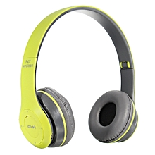 Wireless Bluetooth Sports Headphones with Microphone Portable Stereo FM Headset-green