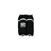 BB-979-B Wrist /Ankle Weights Adjustable Soft -10LBS – Black & Silver