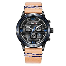 93012 Sports Extreme Fashion Quartz Watch Genuine Leather Men Watches Digital Army Outdoor Man Watches - Yellow