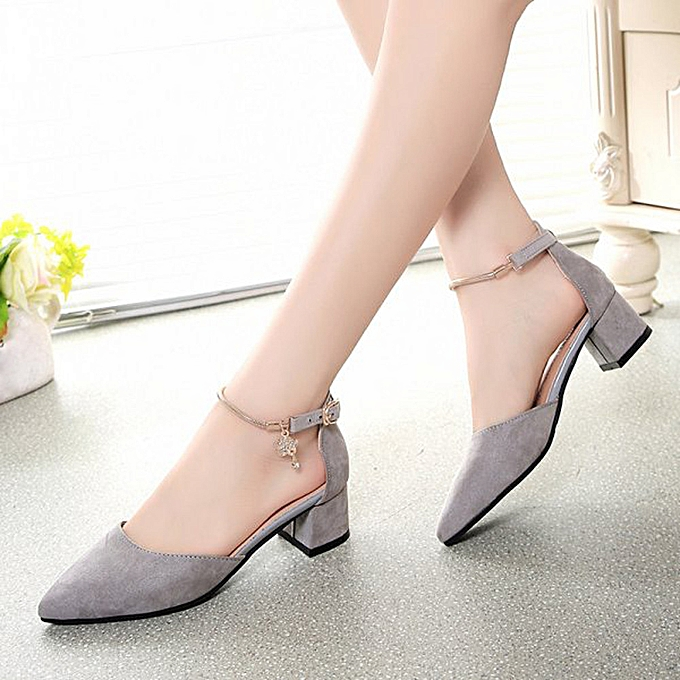 birthpar store High Heels Shoes Wedding Shoes Summer Sandals Shoes Platform  Wedge Shoes-Gray