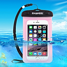 Transparent Universal Waterproof Bag With Lanyard For IPhone, Galaxy, Huawei, Xiaomi, LG, HTC And Other Smart Phones(Pink)