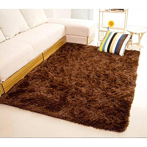 Generic Fluffy Rug Anti Skid Shaggy Area Dining Room Carpet Bed Side Floor Mats