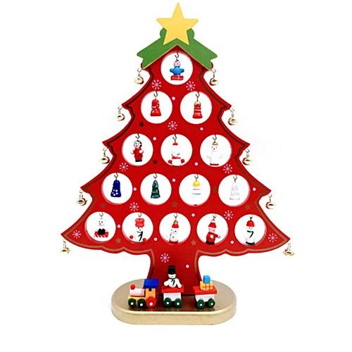New Christmas Wooden Tree Desktop Small Diy Mini