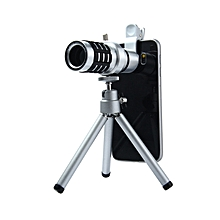 LQ - 015 12X Fixed Focus Clip-on Telescope Objective Lens Mobile Phone Camera - Sliver