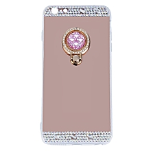 Luxury Diamond Crystal Back Case Cover With Holder Suitable For iPhone