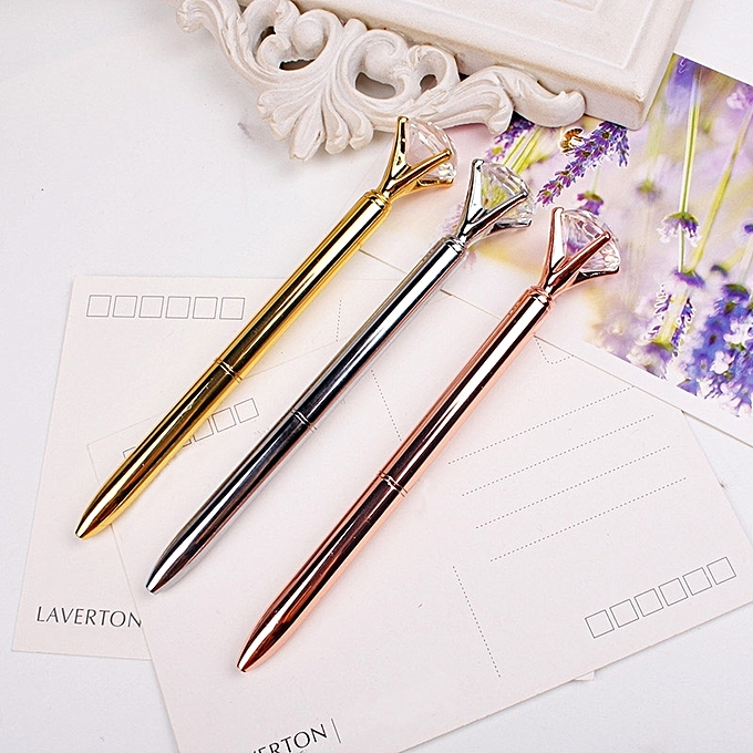 Buy Generic 3 PCS School Stationery Office Supplies Crystal Ball Pens Ballpen Large Diamond Ballpoint Pens @ Best Price Online - Jumia Kenya