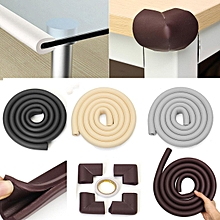 Brown Toddler Baby Kids Safety Soft Foam Table Edge Corner Cushion Protector