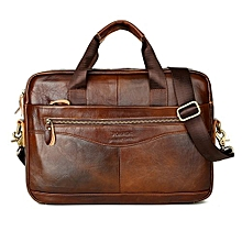 Vintage Men Genuine Leather Handbag Business Briefcase Messenger Shoulder Bag #brown1