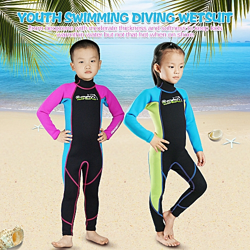 162ea3046fc Generic Kids Diving Suits 2MM Neoprene Wetsuit Boys Girls Zipper Canoeing  Swimming Snorkeling Kayaking Swimsuits