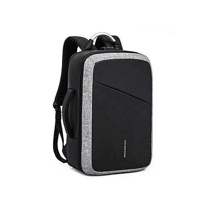 Refined Men s Backpack Anti-theft Laptop Bag Large Capacity Travel Backpacks d2baa9418d49
