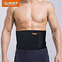 BOER Sweat Absorb Fitness Adjustable Waist Back Support Belt for Man Woman Black