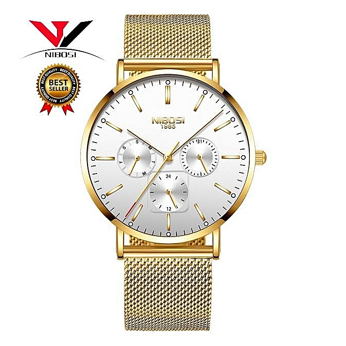 dc07fc49d01 NIBOSI Top Brand Luxury Watches Men Stainless Steel Band Military Watches  Men Classic Quartz Men s Wrist ...