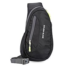 Guapabien Fashionable Single Shoulder Outside Waterproof Multifunctional Chest Bag-BLACK