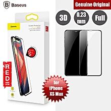 "Baseus Soft PET Edge 3D Full Coverage Tempered Glass for Apple iPhone XS Max 6.5"" (Black) LJMALL"