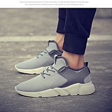 Men's Fashion Lightweight Running Sneakers Sport Shoes-Grey