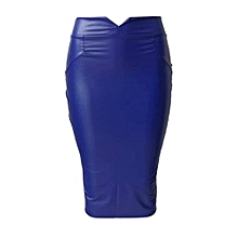 Women Leather Skirt High Waist Slim Party Pencil Skirt