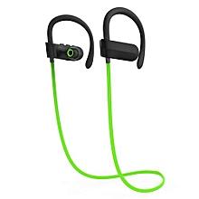 GuoaivoWireless Bluetooth Headset Sport Stereo Headphone Earphone For IPhone 7 -Green