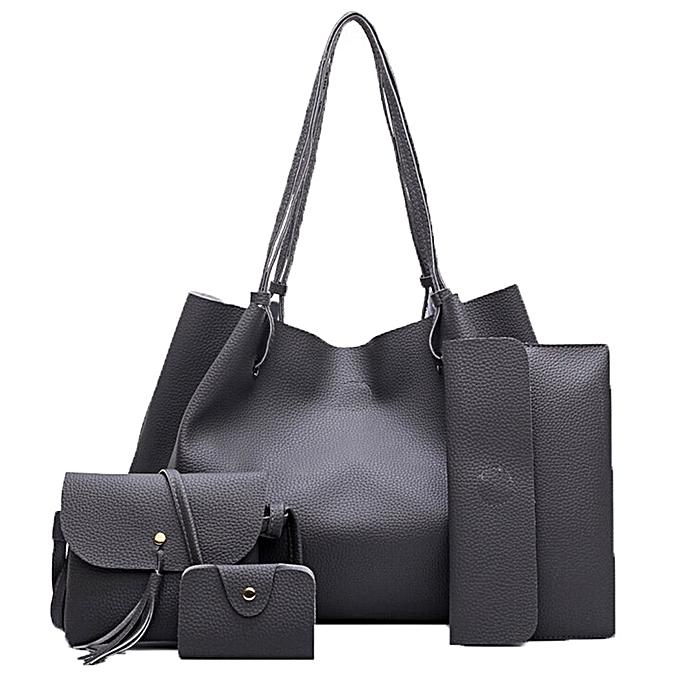 Guoaivo Women Handbag Fashion Four Sets Bag Leather Handbags Messenger Dg