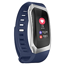 0.96 Inch Screen IP67 Smartband Blood Pressure Oxygen Heart Rate Monitor Band blue & silver