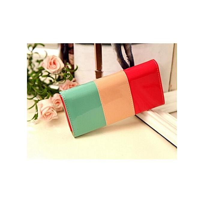 a995f74ac7 Women Leather Wallet Button Clutch Purse Lady Long Handbag Bag Card Holder  Case .