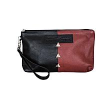 Black / Maroon Cosmetic Bag