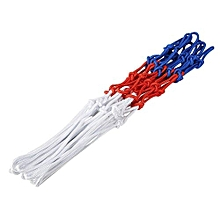 Hand-knitted Basketball Sports Accessories Wall Mounted Hanging Goal Net (Red + White + Blue)