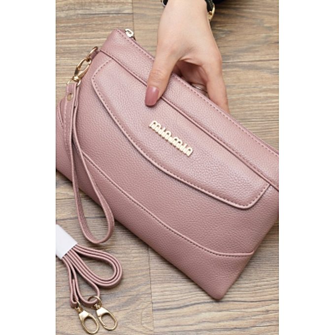 【Bean paste】2018 new clutch bag female multi-function mobile phone bag  fashion wild ins super fire slung small bag dual-use envelope bag purse