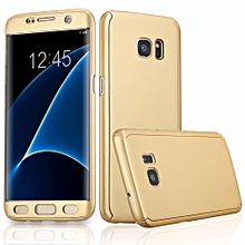 360 Degree All-around Full Body Slim Fit Lightweight Hard Protective Skin Case Cover without Screen Protector for Samsung Galaxy S7 Edge (Gold) XBQ-A