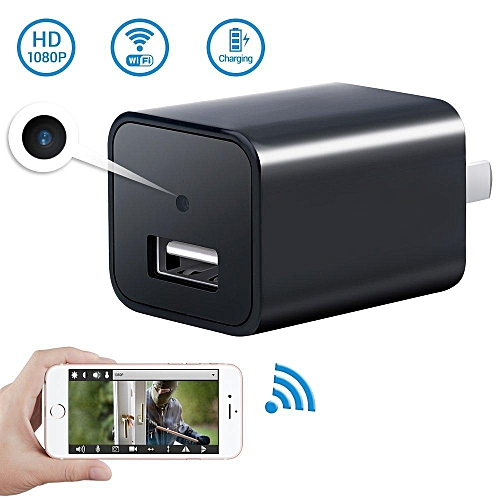 1080P WiFi Hidden Mini Camera USB Wall Charger- Wireless AC Adapter  Security Camera Video Recorder with Motion Detection,App Control for IOS  and