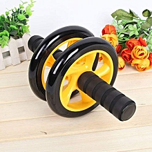 Abs Roller Workout  Arm And Waist Fitness Exerciser Wheel  (Free Knee Mat)