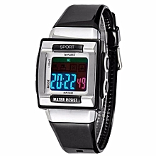 Fashion Top Brand LED Digital Watches Men Famous Sport Wrist Watch Male Clock Electronic Digital-watch(Black)