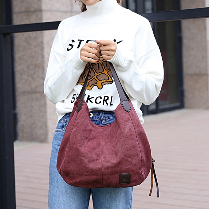6841335d8b01 ... Bags Xiuxingzi Women s Canvas Handbags Vintage High Quality Female Hobos  Single Shoulder ...