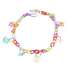 Parrot Pet Bird Acrylic Colorful Chain For Parakeet Cockatiel Budgie Cage Swing Toy 55cm