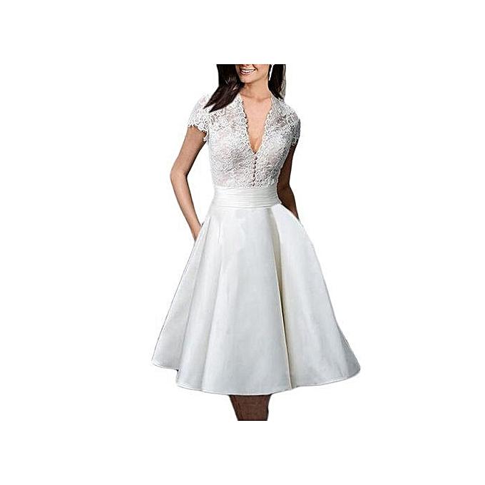 Buy ZAFUL Women Lace Party Wedding Dress