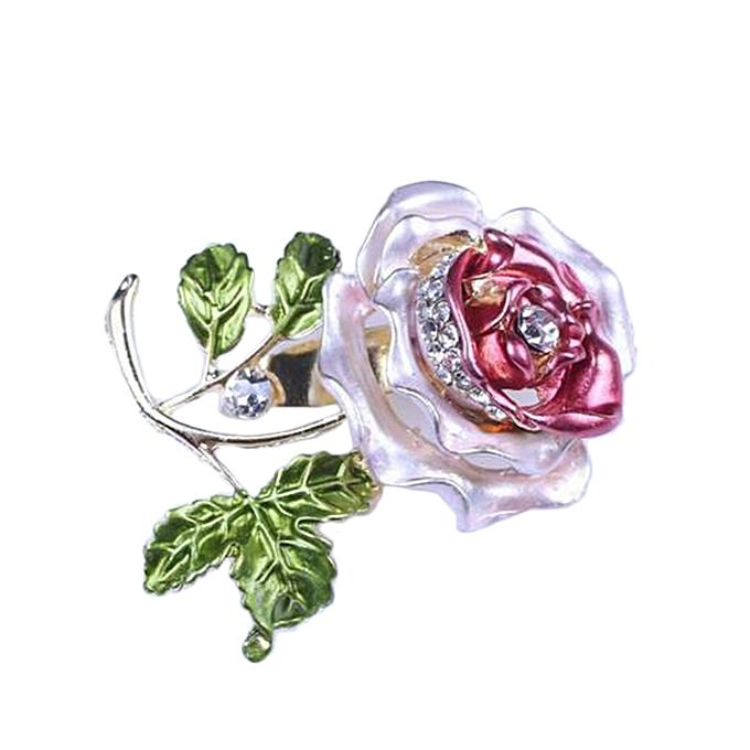279cc983d11 Luxury Elegant Women Rhinestone Crystal Rose Flower Brooch Pin Brooches