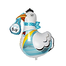 Crane Shaped Baby Boy Air/Helium foil Balloon for Baby Shower